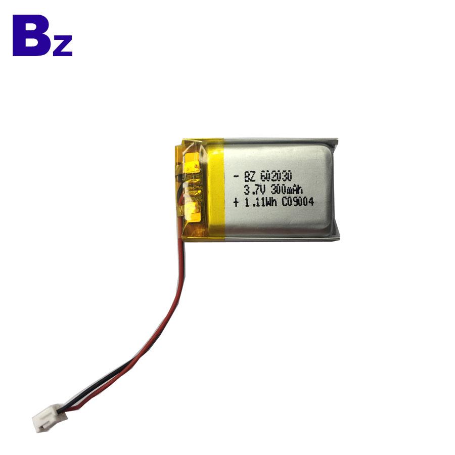 300mAh 3.7V Li-Polymer Battery