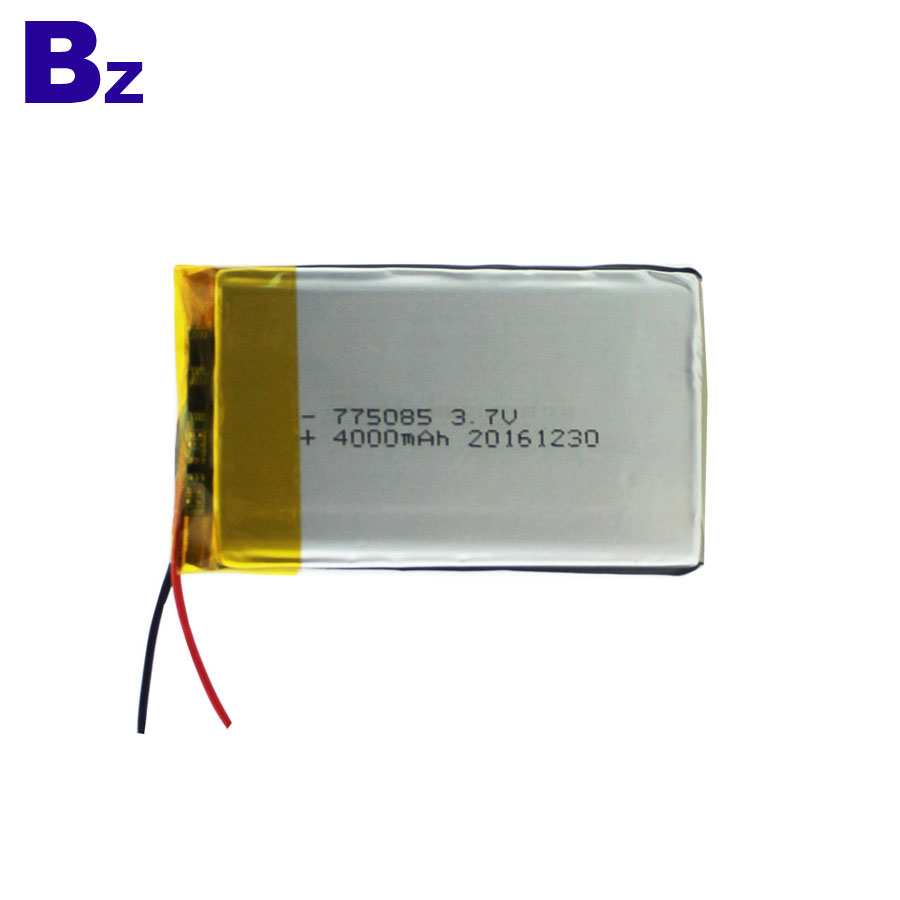 775085 4000mAh 3.7V Polymer Li-Ion Battery