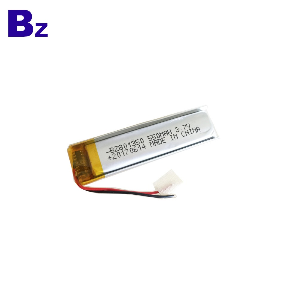550mah 3.7V Rechargeable Lipo Battery Pack
