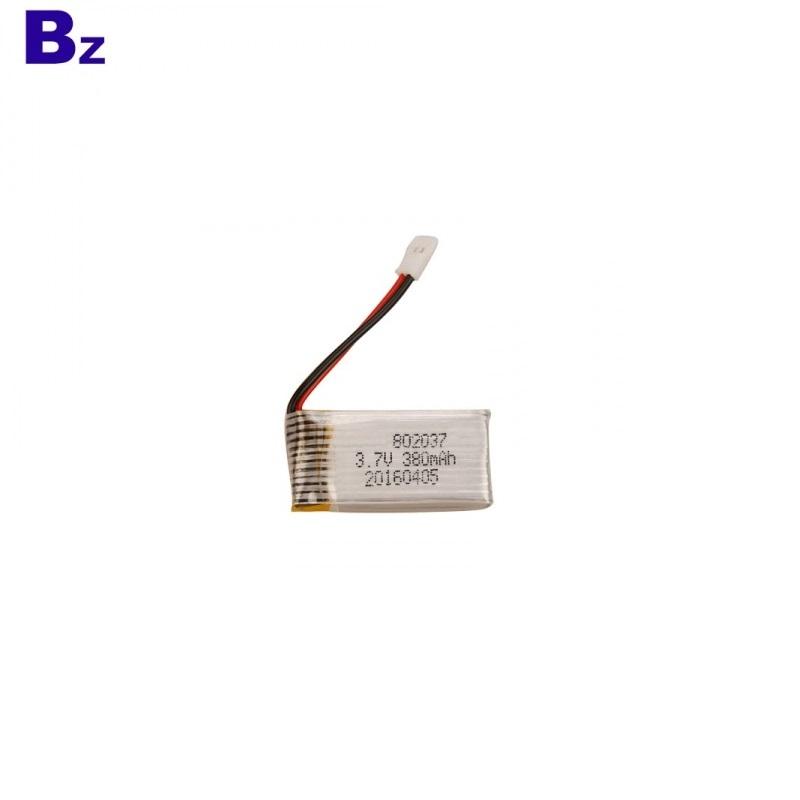 802037 380mAh 15C 3.7V Li-polymer Battery