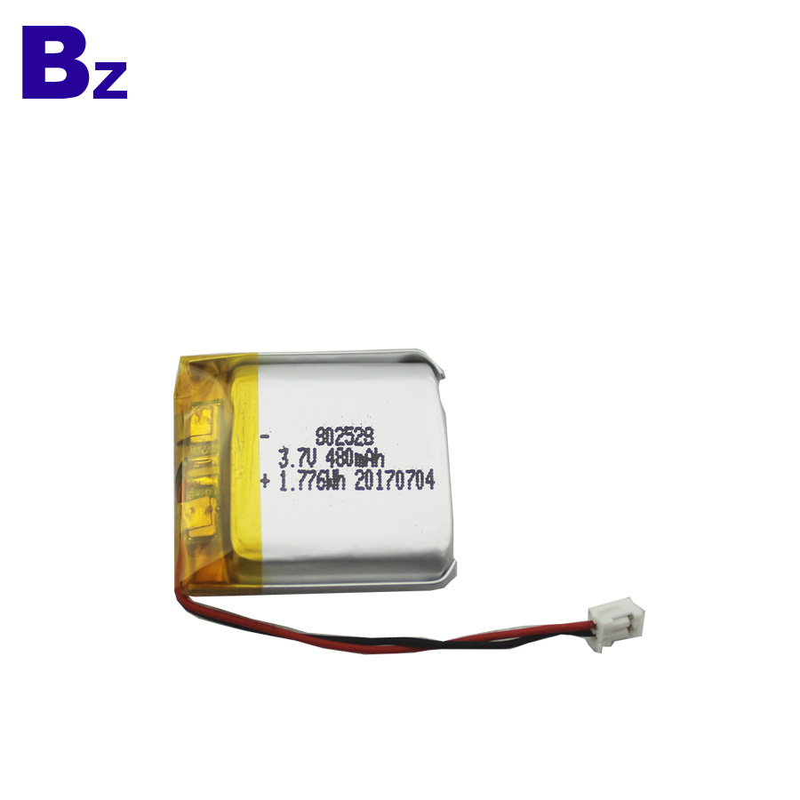 802528 480mAh 3.7V LiPo Battery
