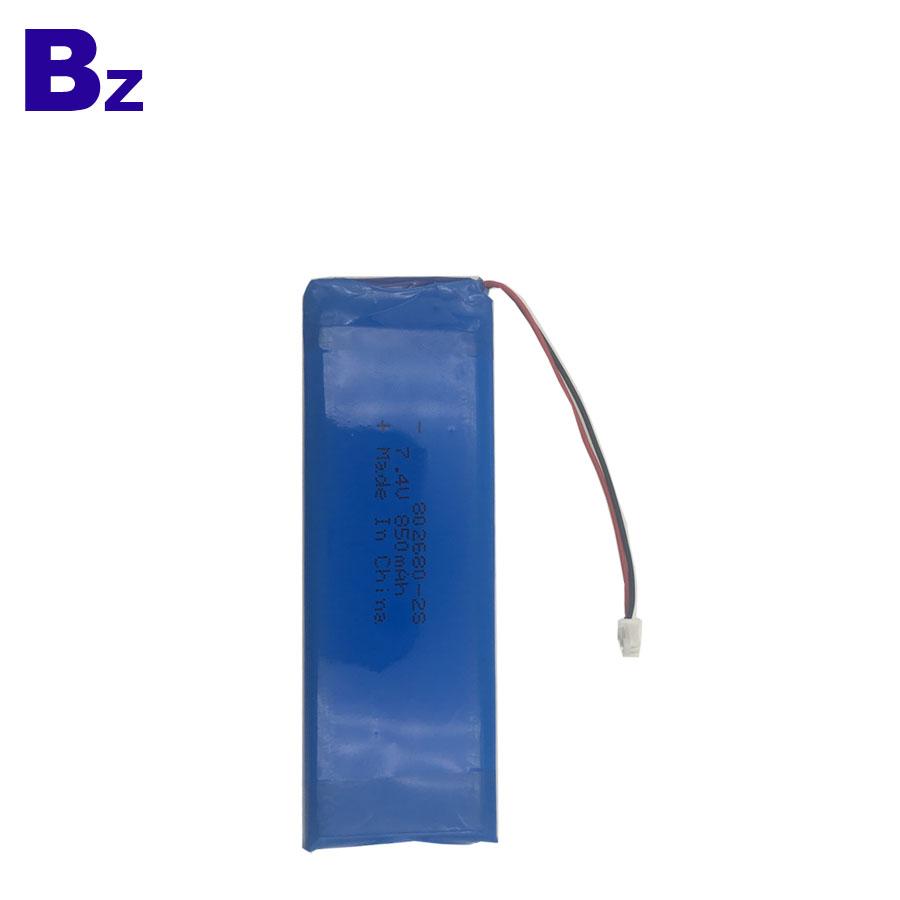 Supply Rechargeable LiPo Battery 850mAh 7.4V