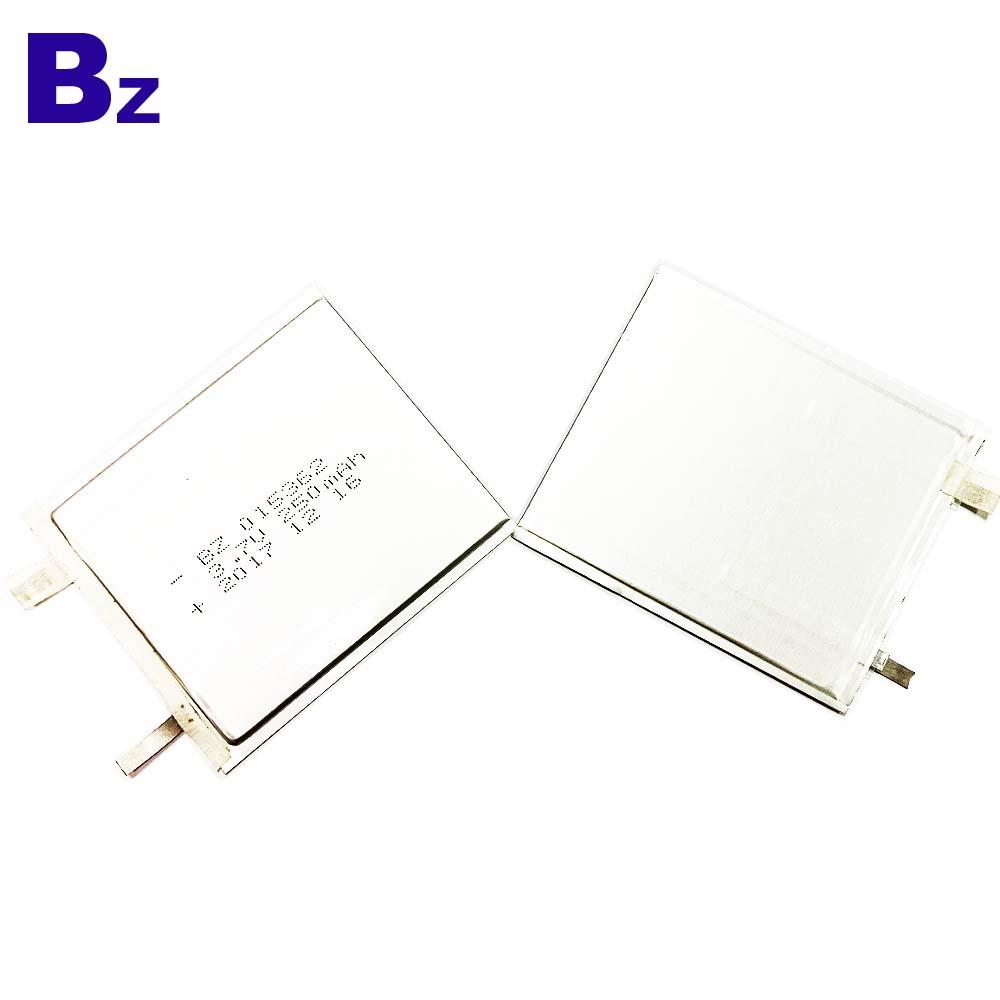015362 250mAh 3.7V Ultra-thin Li-Polymer Battery
