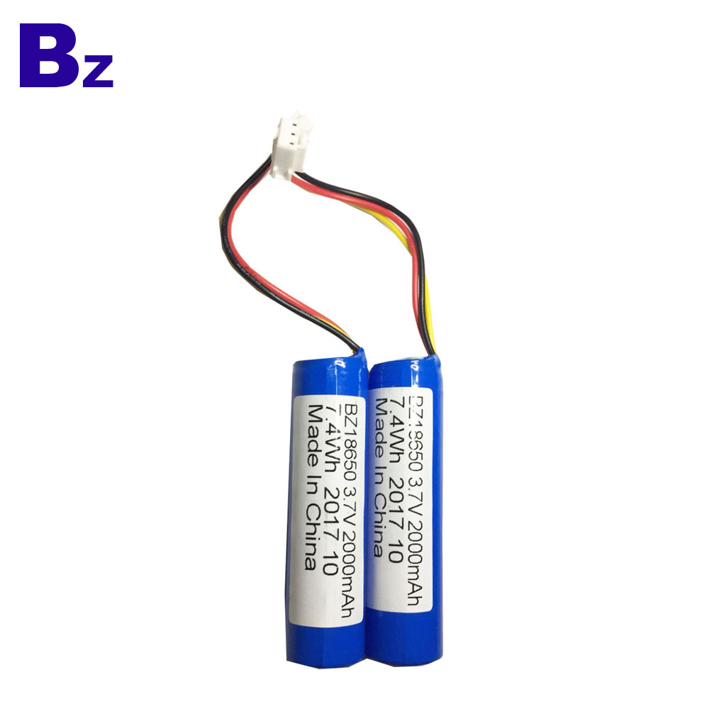 18650 Batteries 2000mah 3.7V Rechargeable Li-ion Battery