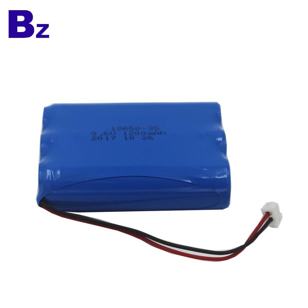 18650 3S 1200mAh 9.6V LiFePO4 Battery Pack