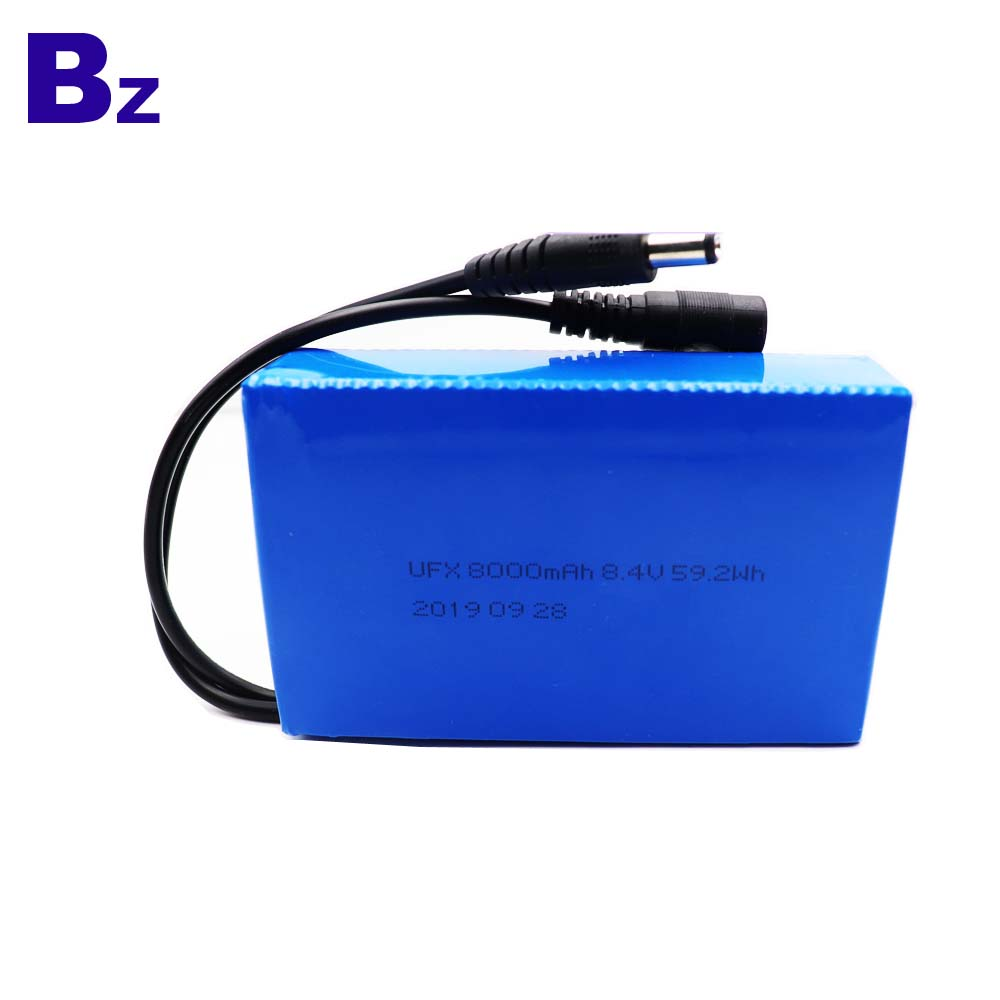 8000mAh Shared Escort Bed Rechargeable Lipo Battery