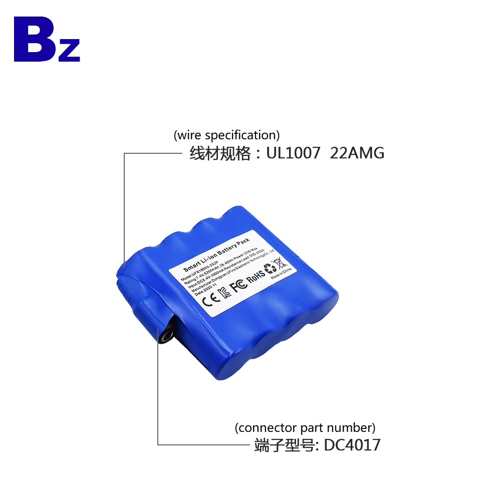 18650 Li-ion Battery Pack With KC, CE, FCC, RoHS Certification