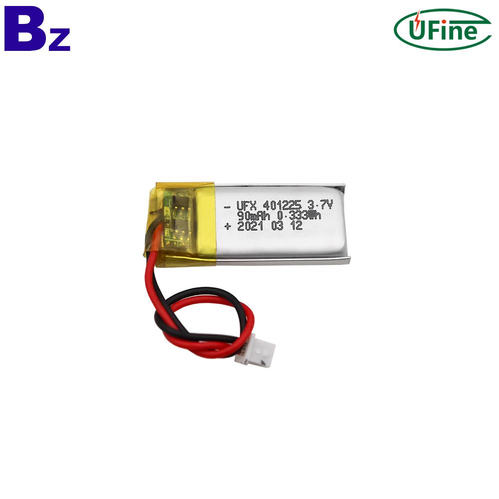 90mAh Rechargeable Bluetooth Earphone Lipo Battery