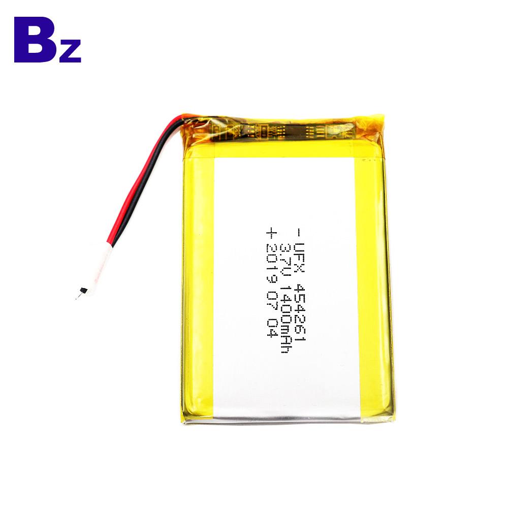 454261 1400mAh 3.7V Li Polymer Battery