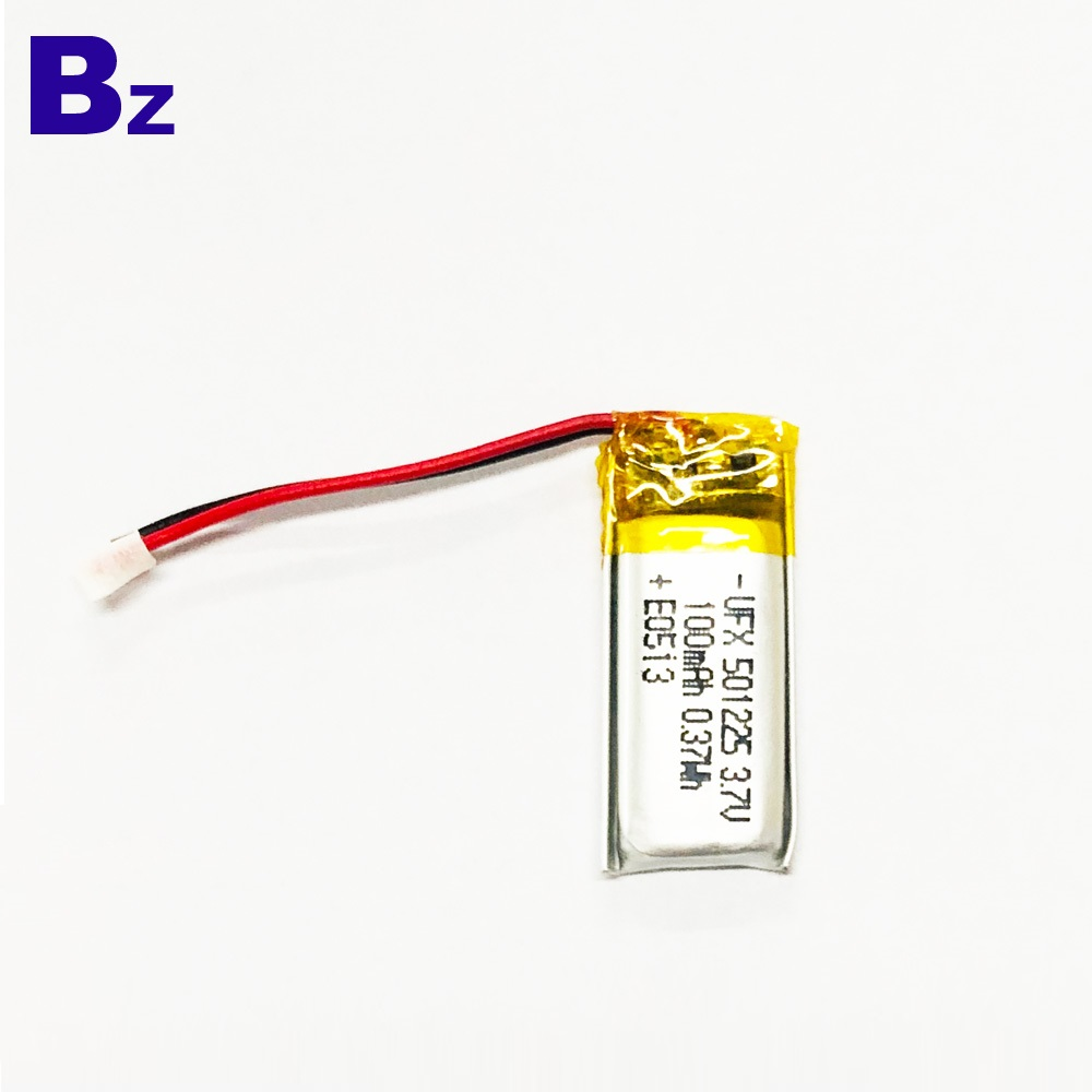 100mAh Li-Polymer Battery With Wire And Plug