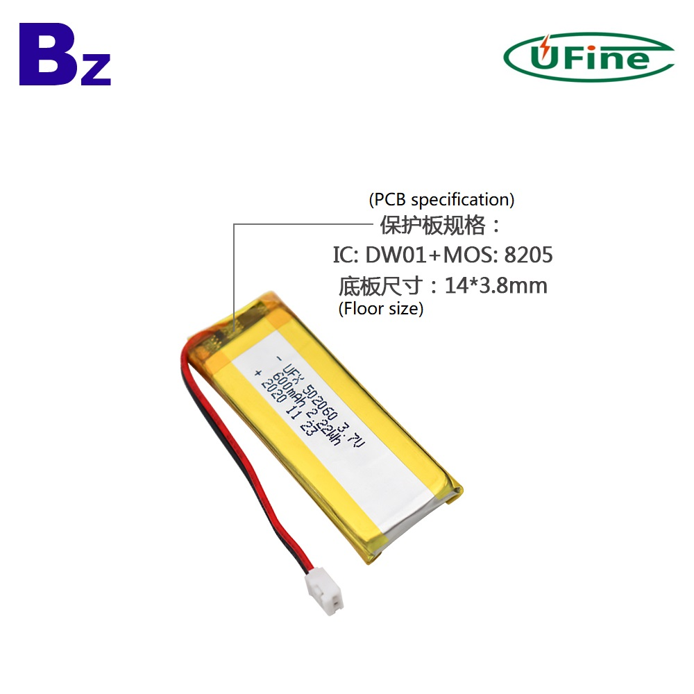 Factory Lowest Price 600mAh Li-Polymer Battery