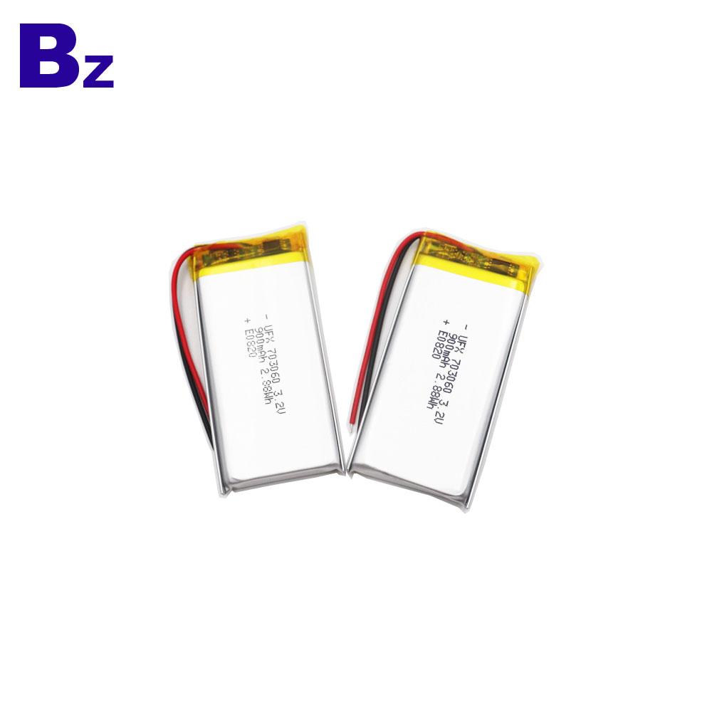 703060 900mAh 3.2V LiFePO4 Battery