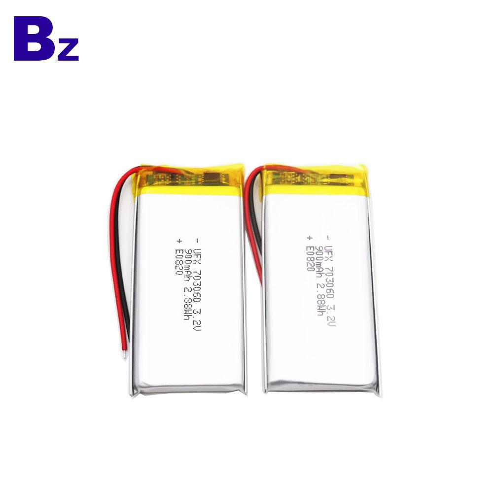 900mAh 3.2V LiFePO4 Battery