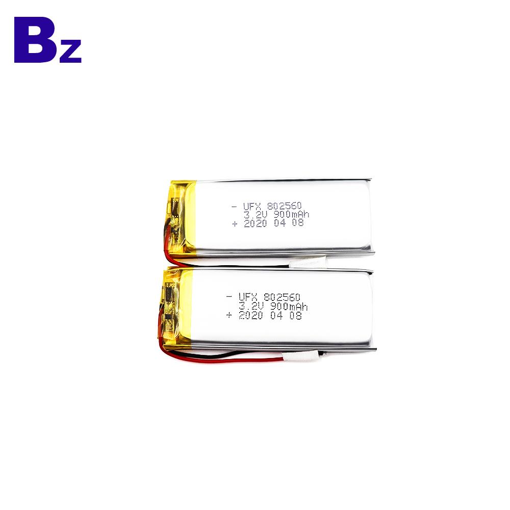 Professional Customized 900mAh LiFePO4 Battery