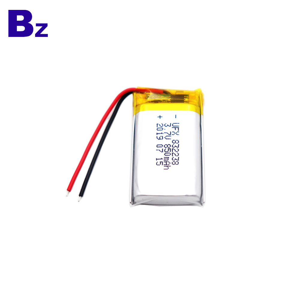 850mAh Li-Polymer Battery With Wire