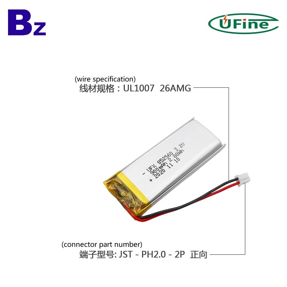 900mAh Healthcare Device LiFePO4 Battery