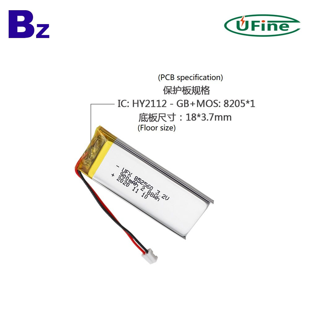 Top Selling 900mAh Medical products 3.2V Battery