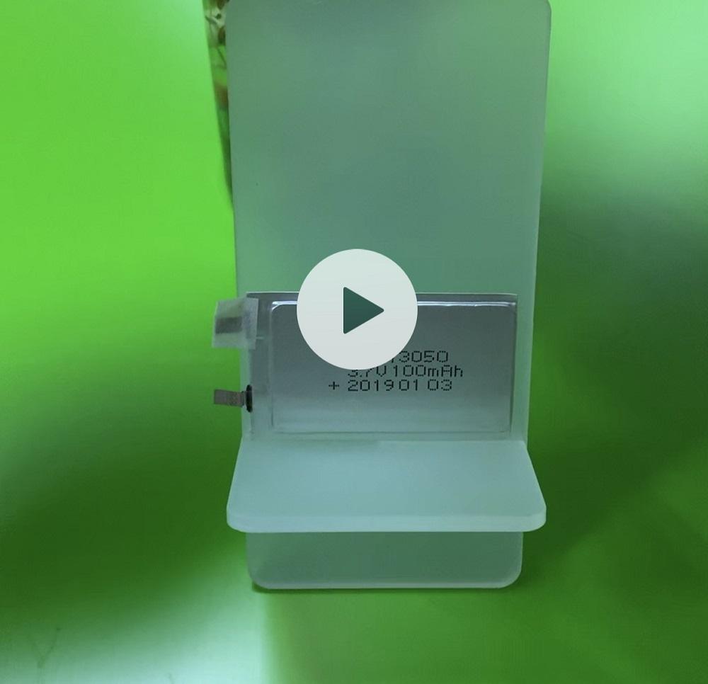 013050 100mAh 3.7V Ultra Thin Battery for Smart Card
