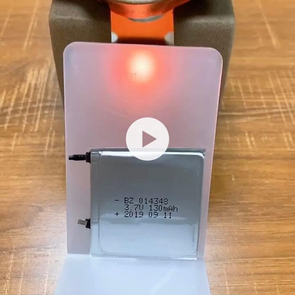 014348 130mAh 3.7V Polymer Li-Ion Battery